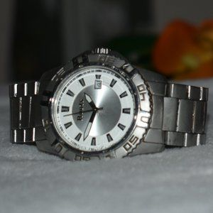 Cool Early 2000's Stainless Steel Watch by Roots
